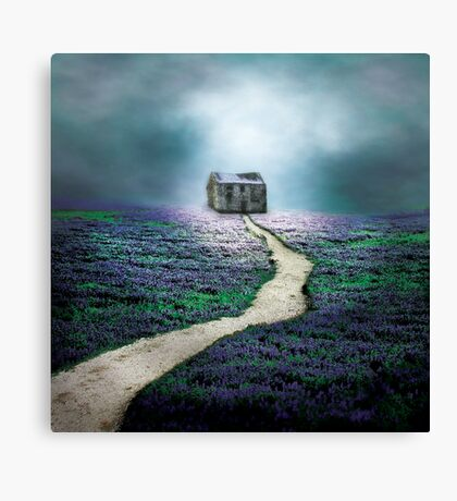 Little House on a Hill Canvas Print