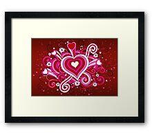 Modern Art Smart and Stylish Hearts Explosion Framed Print