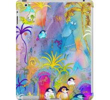 Penguins, sightseeing medieval Architecture iPad Case/Skin