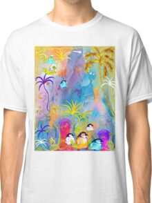 Penguins, sightseeing medieval Architecture Classic T-Shirt