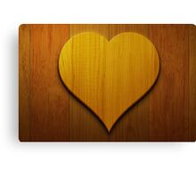 Wooden Heart Wall Art Canvas Print