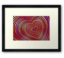 Modern Art Smart and Stylish Hearts Shimmering Framed Print