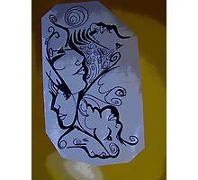 Doodle Women  Photographic Print