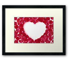 Modern Art Smart and Stylish Hearts Rose Petals Framed Print