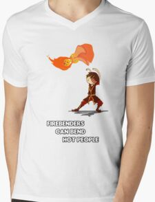 Fire Benders can Bend hot People (with text) Mens V-Neck T-Shirt