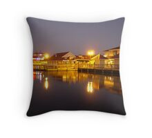 Barefoot Landing Throw Pillow