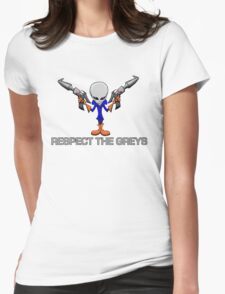 RESPECT THE GREYS Womens Fitted T-Shirt