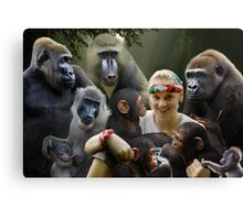 Jane and the Primates Canvas Print