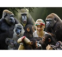 Jane and the Primates Photographic Print