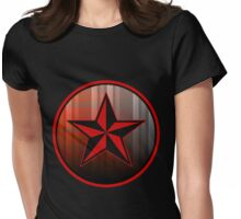 plad star patch Womens Fitted T-Shirt