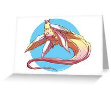 magical unicorn bird Greeting Card