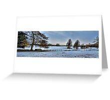 Blue Winter Pano~ Greeting Card