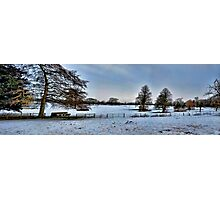 Blue Winter Pano~ Photographic Print
