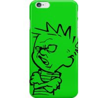 calvin and hobbes: eeeewwww iPhone Case/Skin