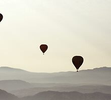 Balloons over the Desert by Lomcovak