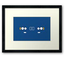 E23 kidney grill and headlight Framed Print