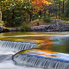 Autumn Colors at Bond Falls by Kenneth Keifer