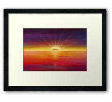 Modern Art Smart Stylish Wall Art Vivid Sunrise Framed Print