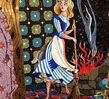 Cinderella Castle Mosaic by schermer