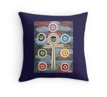 Ankh and Chakra Design Throw Pillow
