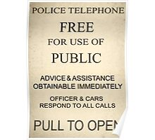 Police Box Sign Poster