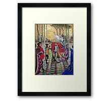 Cinderella Ball Castle Mosaic Framed Print