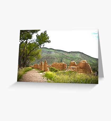 Pathway To The Past Greeting Card