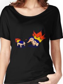 Pokemon Half-Life 2 Cyndaquil and Headcrab Playdate Women's Relaxed Fit T-Shirt