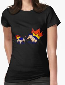 Pokemon Half-Life 2 Cyndaquil and Headcrab Playdate Womens Fitted T-Shirt