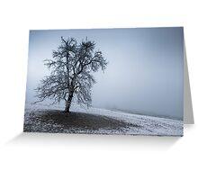 dark winter tree Greeting Card