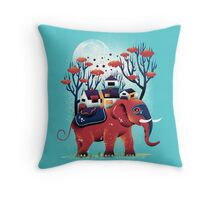 A Colorful Ride Throw Pillow