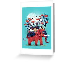 A Colorful Ride Greeting Card