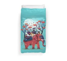 A Colorful Ride Duvet Cover