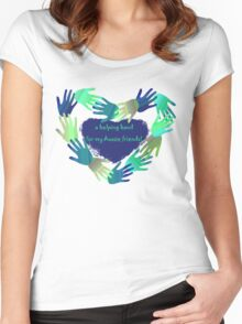 a helping hand for my Aussie friends .... Women's Fitted Scoop T-Shirt