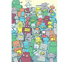 Robot Party Photographic Print