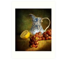 Pitcher With Fruit Art Print