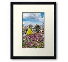 beauty and the beast at epcot. Framed Print