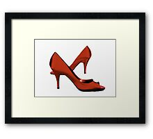 Red Criss-Cross Shoes Framed Print