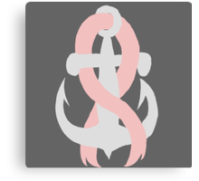 Breast Cancer Anchor Canvas Print