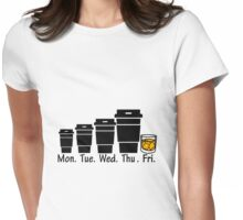 Evolution Of Coffee  Womens Fitted T-Shirt