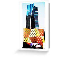 new york graphic art modern building  Greeting Card