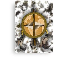 World & Arrows Canvas Print