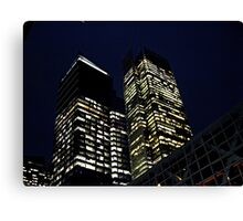 NYC Buildings in Lights, 42nd Street, NYC Canvas Print