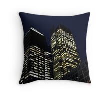 NYC Buildings in Lights, 42nd Street, NYC Throw Pillow