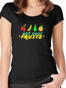 Eat Your Fruits Women's Fitted Scoop T-Shirt