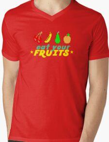 Eat Your Fruits Mens V-Neck T-Shirt