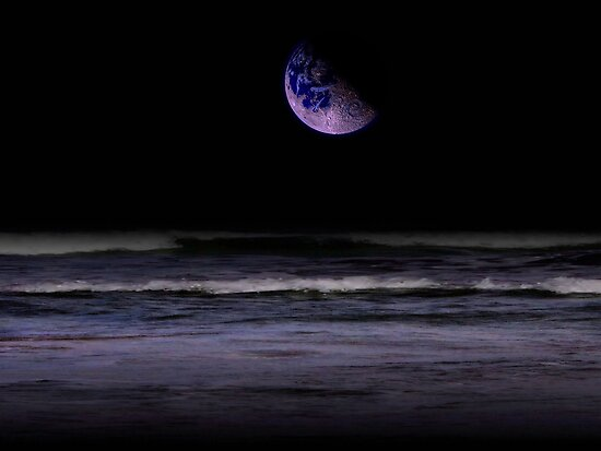 Mauve Ocean by Juana Maria Garcia Domenech
