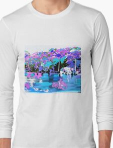Enchanted Forest Oil Painting Long Sleeve T-Shirt