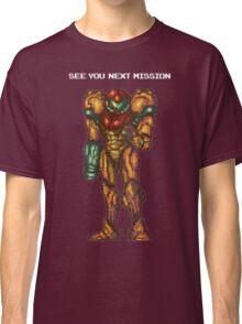 Samus Aran - Super Metroid - See You Next Mission Classic T-Shirt