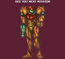 Samus Aran - Super Metroid - See You Next Mission T-Shirt